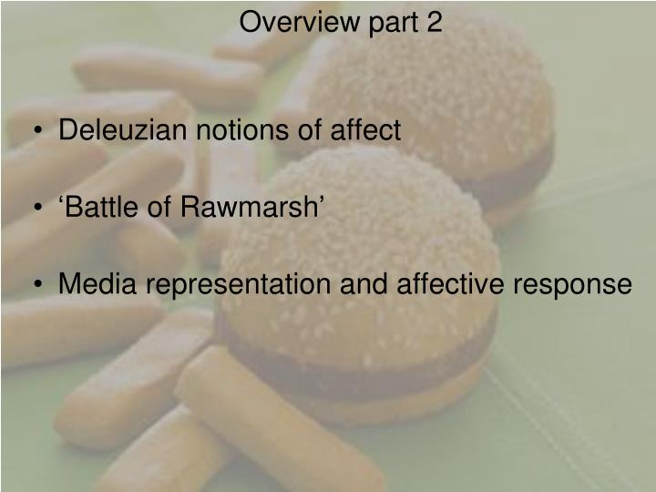 Overview part 2