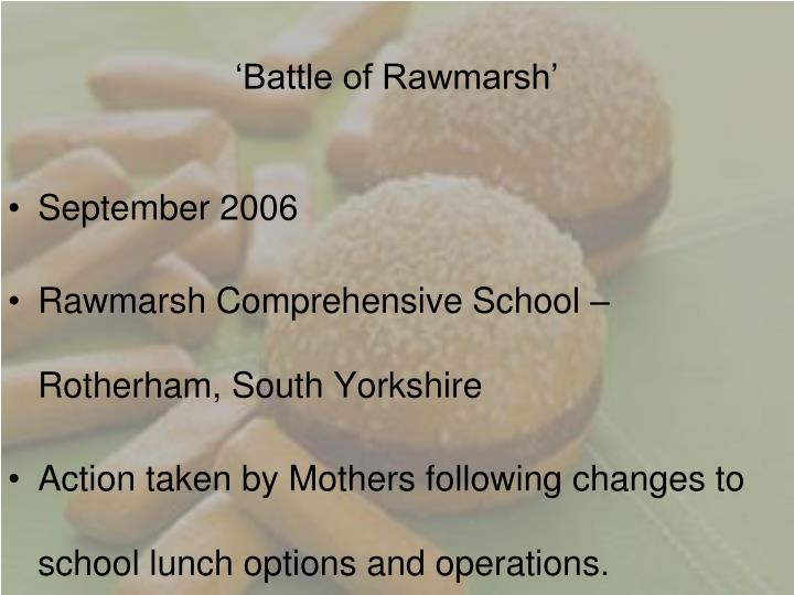 'Battle of Rawmarsh'