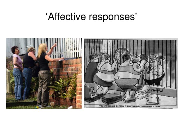 'Affective responses'