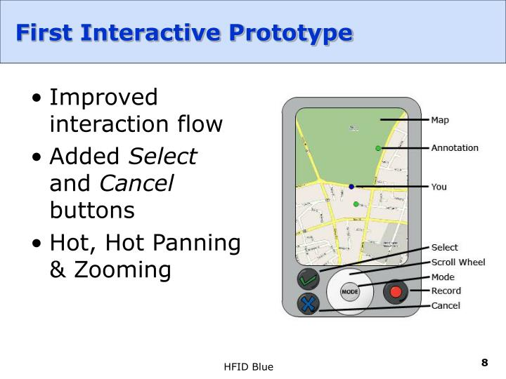 First Interactive Prototype