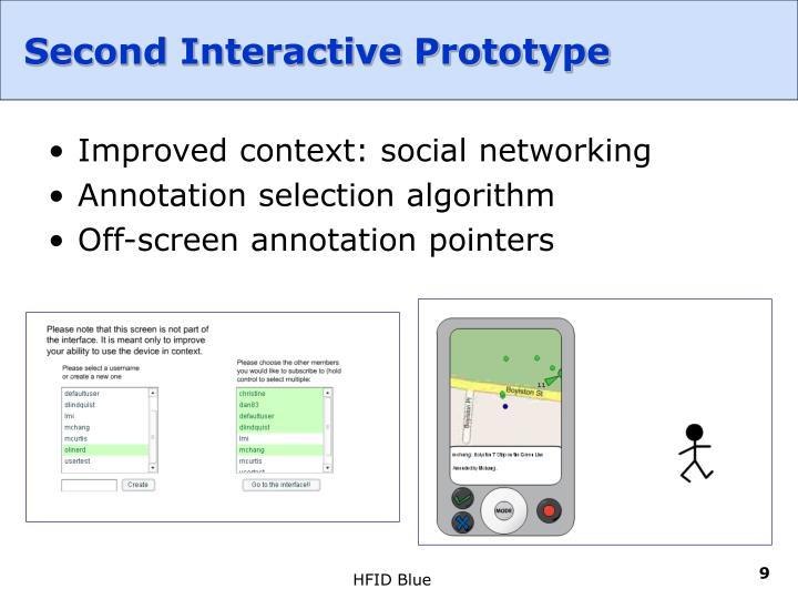 Second Interactive Prototype