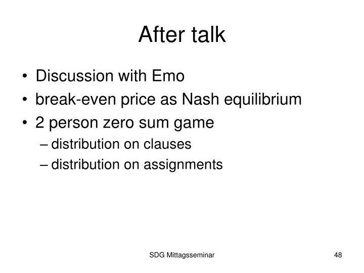 After talk