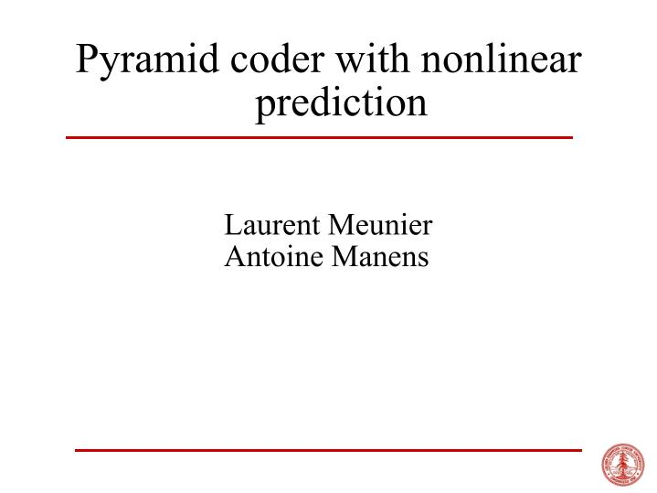 pyramid coder with nonlinear prediction n.