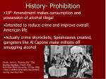 history prohibition