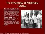 the psychology of americana groups1