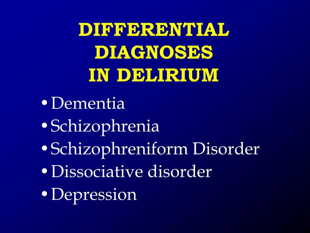 PPT - DELIRIUM, DEMENTIA, AMNESTIC AND OTHER COGNITIVE