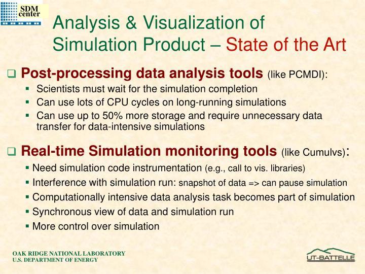 Analysis & Visualization of Simulation Product –