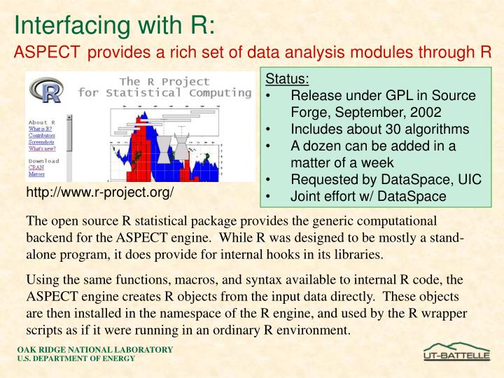 Interfacing with R: