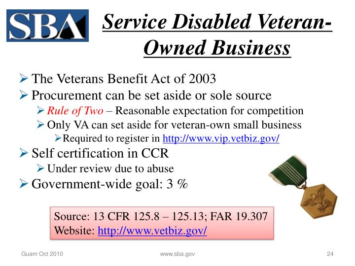 Service Disabled Veteran-Owned Business