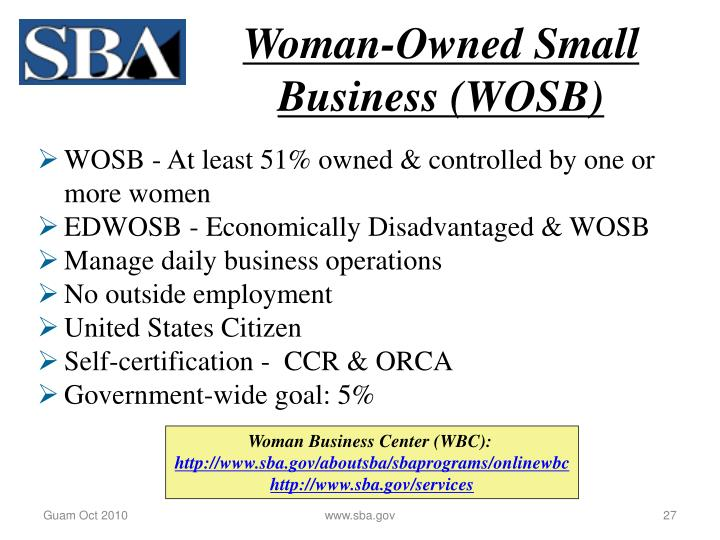Woman-Owned Small Business (WOSB)
