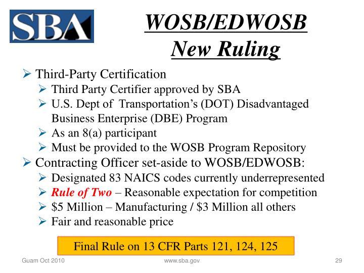 WOSB/EDWOSB