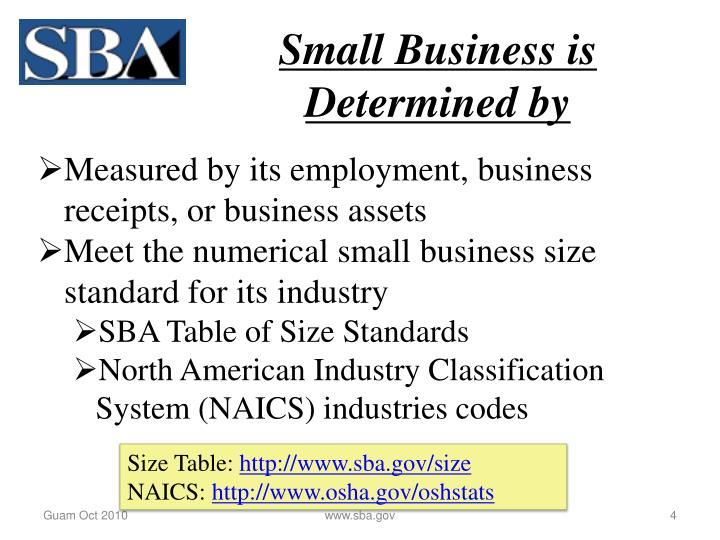 Small Business is Determined by