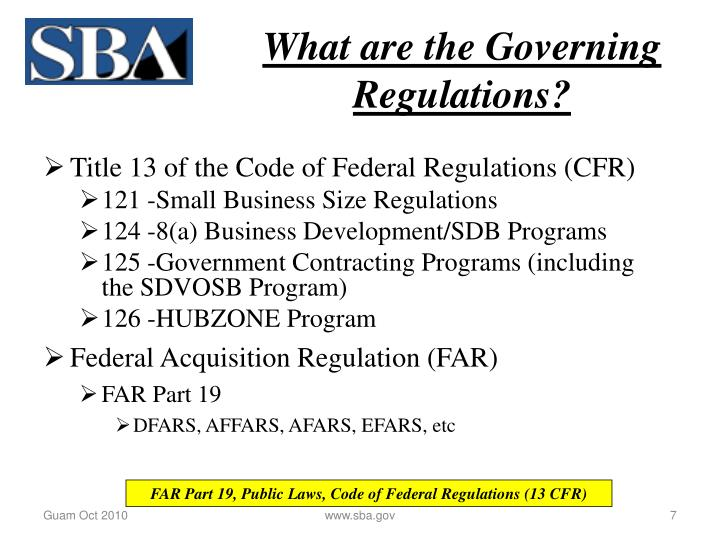 What are the Governing Regulations?
