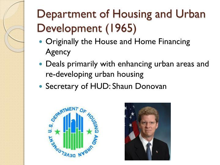 Department of Housing and Urban Development (1965)