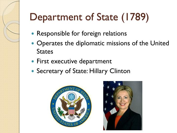 Department of state 1789