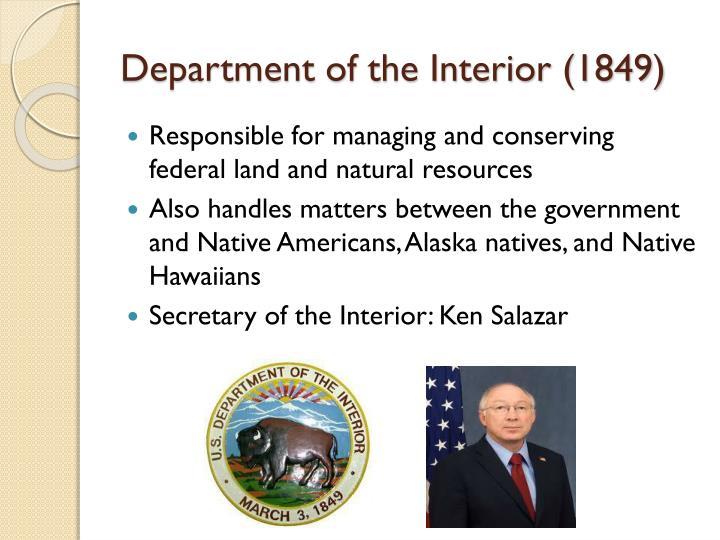 Department of the Interior (1849)