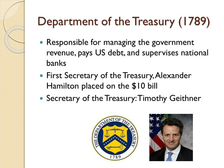 Department of the treasury 1789