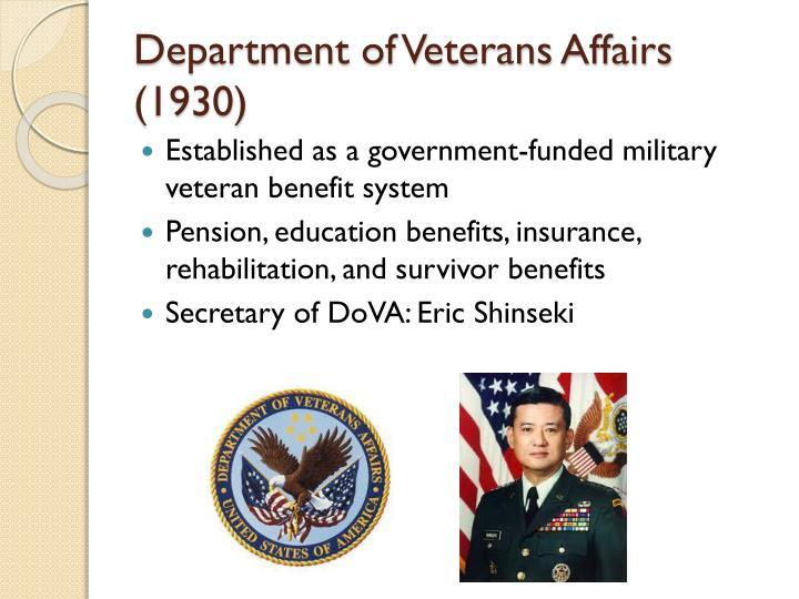 Department of Veterans Affairs (1930)