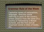 grammar rule of the week1
