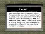 journal 1 paraphrase the prompt in the space provided on your warm up