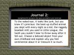 journal 2 paraphrase the prompt in the space provided on your warm up