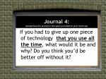 journal 4 paraphrase the prompt in the space provided on your warm up