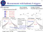 measurements with hadronic b triggers1