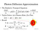 photon diffusion approximation