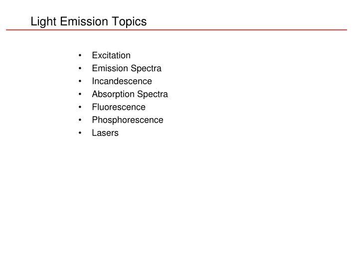Light emission topics