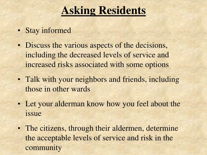 Asking Residents