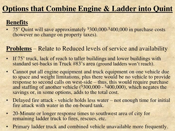 Options that Combine Engine & Ladder into Quint