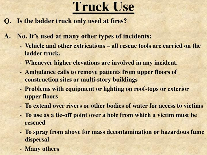 Truck Use