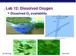 lab 12 dissolved oxygen