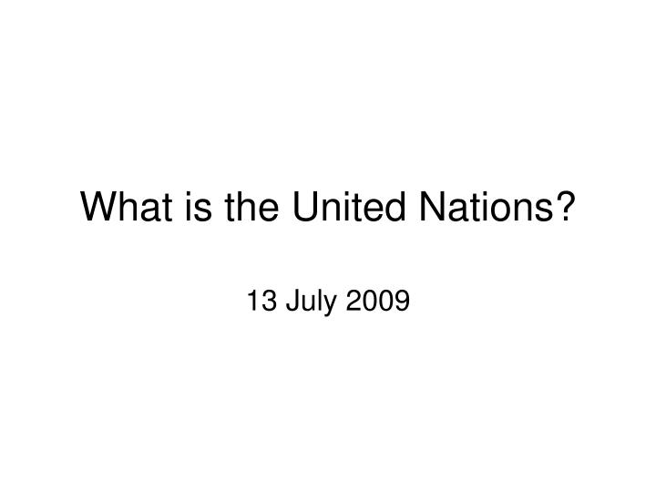what is the united nations n.