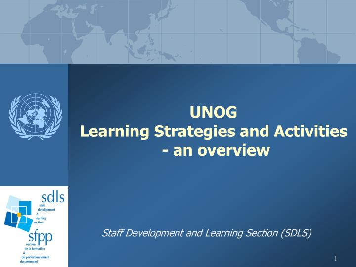 Unog learning strategies and activities an overview