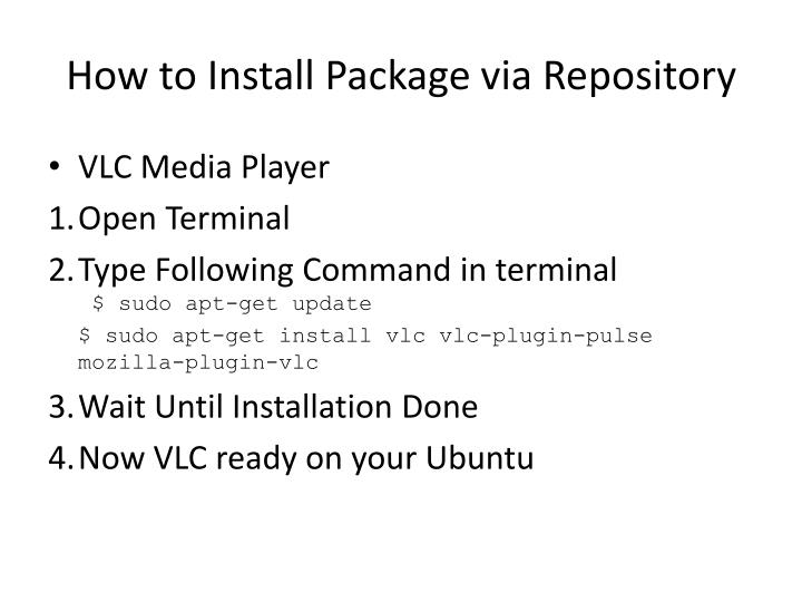 How to Install Package via Repository