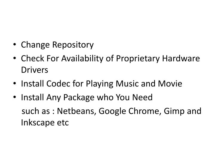 Change Repository