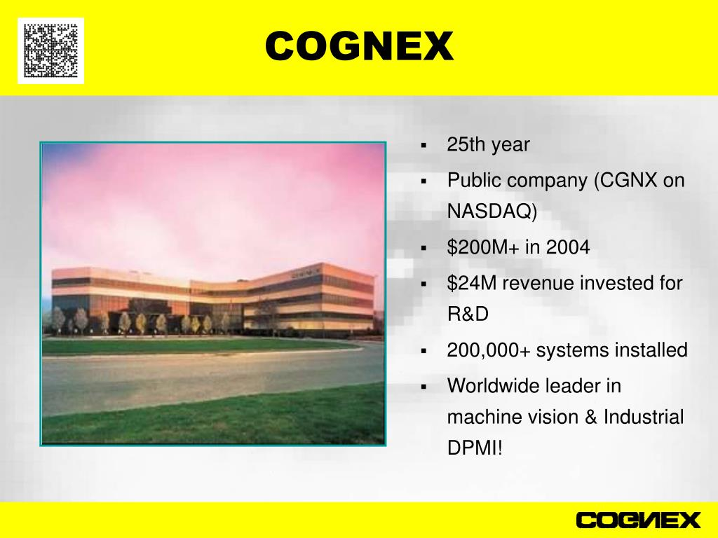 PPT - COGNEX PowerPoint Presentation - ID:4041410