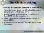 the clock is ticking