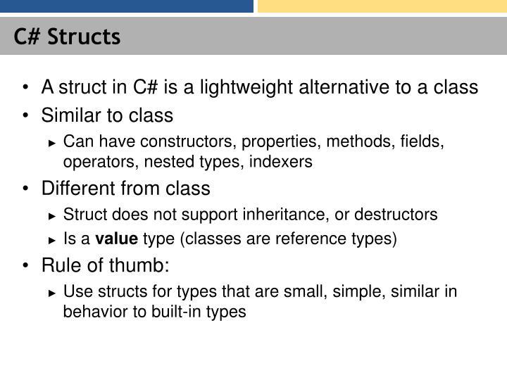 C# Structs