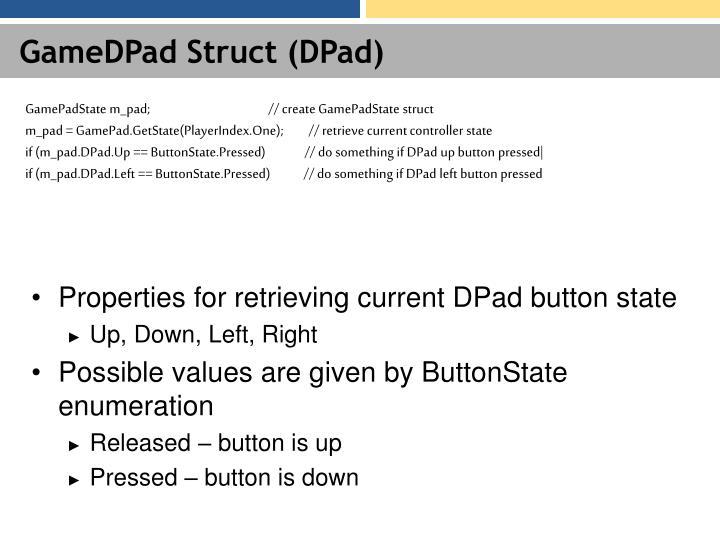 GameDPad Struct (DPad)
