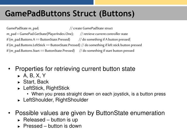 GamePadButtons Struct (Buttons)