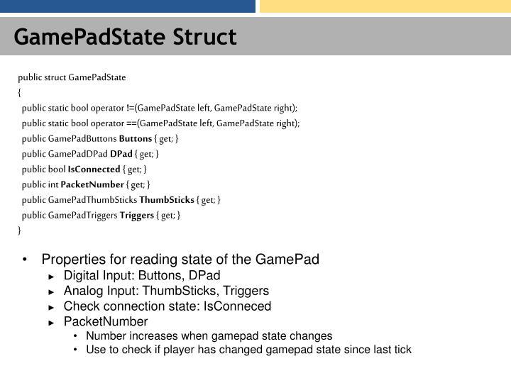 GamePadState Struct