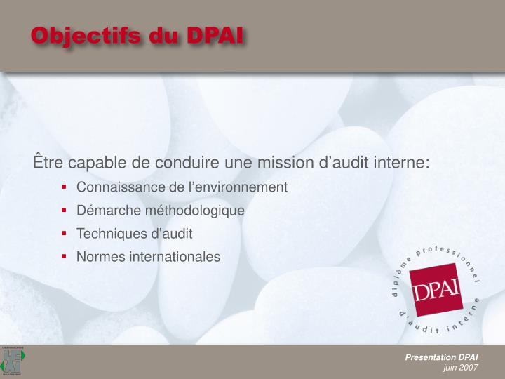 Objectifs du DPAI