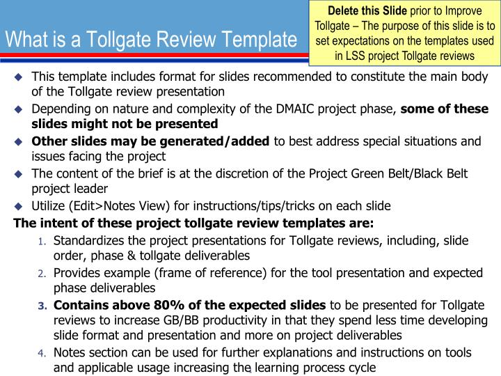 PPT - What is a Tollgate Review Template PowerPoint Presentation