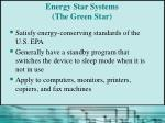 energy star systems the green star