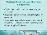 materials used to make electronic components