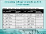 measuring voltage output to an atx motherboard1