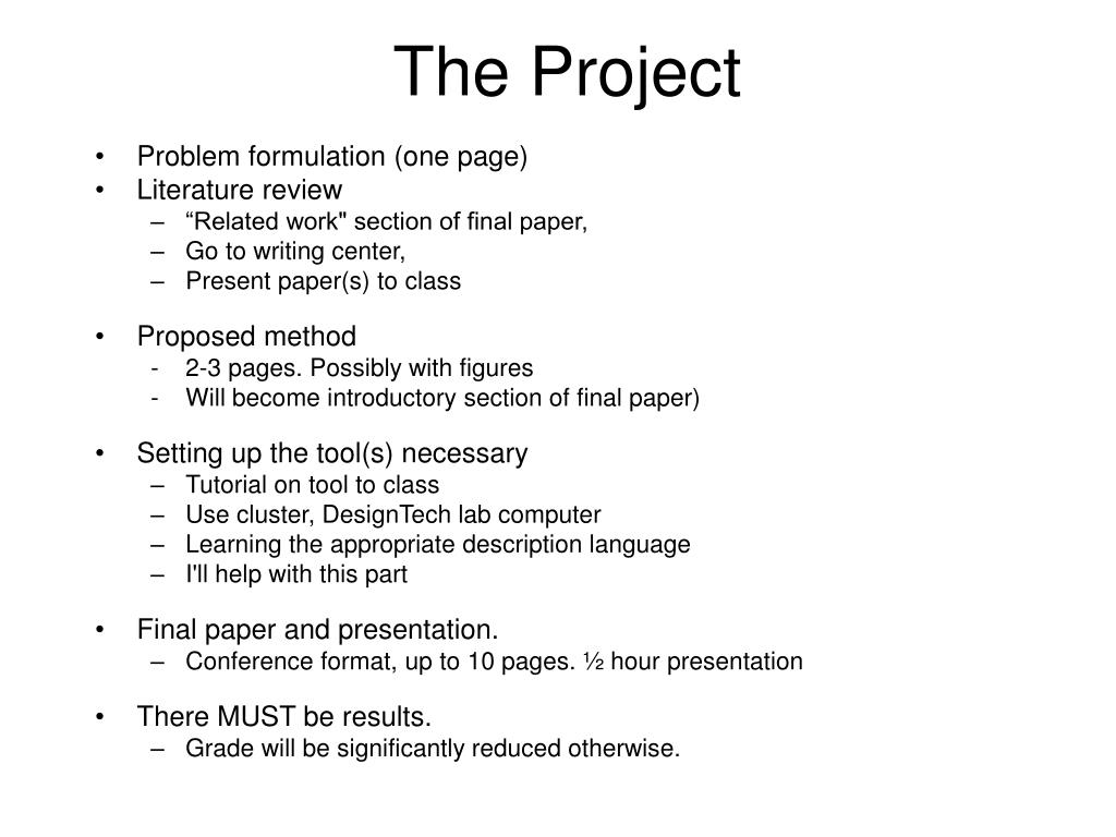 Ppt The Project Powerpoint Presentation Id4041666