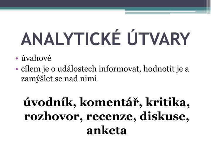 Analytick tvary